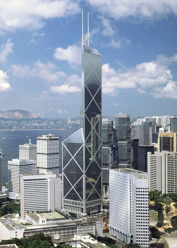 Torre del Banco de China (Hong Kong). 1989